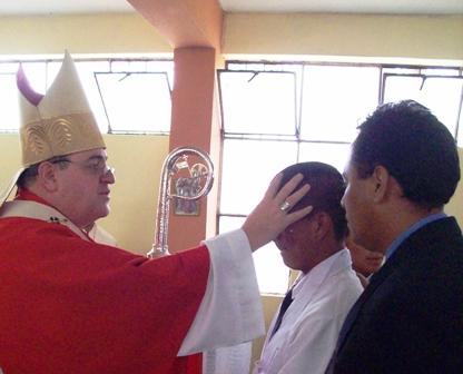 Jóvenes internos del Centro Juvenil de Piura, reciben la plenitud del Espíritu Santo
