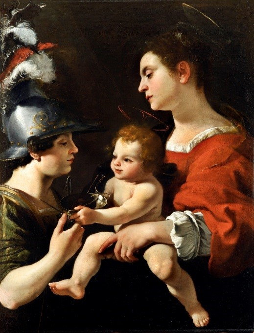 Virgen con el Niño y San Miguel arcángel. Rutilio Manetti.